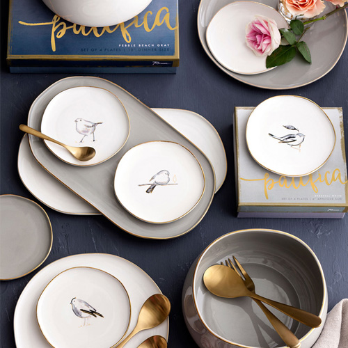 로잔나 Pacifica Plates Bird 4pcs/set