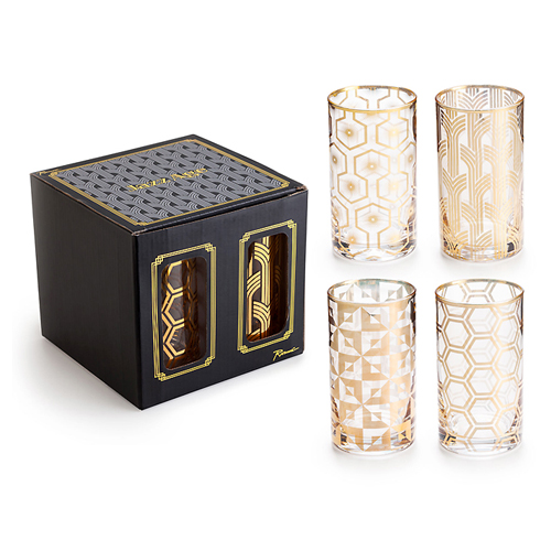 로잔나 Jazz Age Highballs 4pcs/set